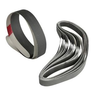 15PCS 1 polegada X 30 polegadas 600/800/1000 Grit correias de lixa de esmeril Polimento de óxido de alumínio