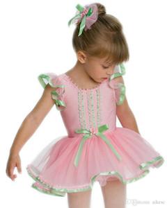 das mulheres Traditinoal Tutu Rosa Estágio Wear Desempenho vestido da bailarina saia fase do bailado vestido do bailado Costumes Leotards Dança Crianças L