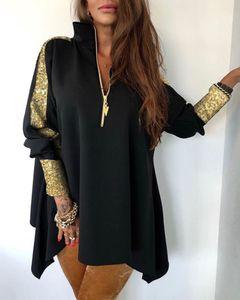 Beiläufigen Frauen Designer Pailletten Mantel Mode Damen Zipper Ausschnitt Jacken Panelled Frauen lösen Oberbekleidung