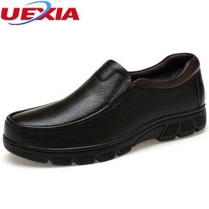 Winter Warm Velvet Luxury Formal Men Shoes Casual Oxford Cow Leather Work Classic Elegante Oficina Business Dress Plus Size 36-48