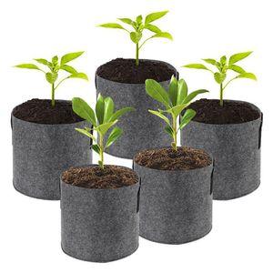 100pcs Grow Grow Bag sacos para as plantas Plantio Bag Atacado não-tecido Tecido vasos de plantas Pouch Root Flor Container / horticultura Pots