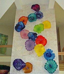 Murano Placa de vidro soprado turco para Wall decorativa Pendurado Craft Home Goods parede Art Factory Mão preço arte da parede de vidro soprado