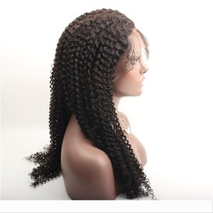 Discount!! 22 inch full lace Tiny Afro Kinky Curly Wigs Human Hair Full Lace Wigs For Black Women with baby hair