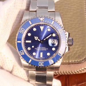 U1 impermeável de pulso azul safira cerâmica 40 milímetros de aço inoxidável Bezel 116619LB 116610 Homens Mecânico Automático Men Watch Watches