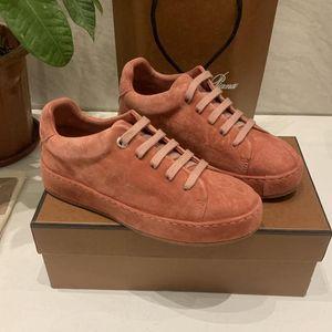 De nouvelles chaussures de marque Air des femmes de qualité supérieure Loro chaussures de sport quatre saisons des femmes pina chaussures de course de vachette bord