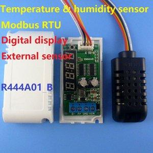 Freeshipping DC 5-24 V RS485 Modbus RTU Display Digital com Temperatura Externa e sensor de Umidade AM2320 Módulo repl DS18B20 SHT10 SHT20
