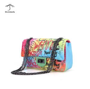 Nuova borsa graffiti borse di colore caramelle borse delle signore di alta qualità borse a tracolla Croce Body Borse borse da sera portafoglio esterno trasporto libero