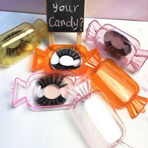 Nuevas cajas del caramelo lindo Mink Lashes cajas del caramelo de las pestañas falsas de embalaje caja vacía Pestañas Caja caja de embalaje para componen