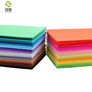Shuanshuo Polyester Felt Fabric DIY Handmade Felt Cloth For Sewing Home Decoration 1mm Mix 40 Colors 15x15cm 5.9x5.9inch