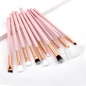 Pinceau fard à paupières professionnel Ensemble de maquillage cosmétiques Pinceaux Kit Sourcils Eyeliner Pinceau à lèvres Outils Make Up Beauté