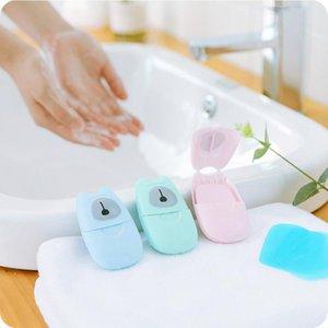 comprimidos de sabão descartável floral 50PCS caixa mão portátil para lavagem comprimidos comprimidos pequena sabão de descontaminação e esterilização