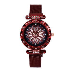 2020 Women Fashion Watches Rhinestone Mesh Steel Band Watches Quartz Casual WristWatches Watch Ladies Dress Wrist Watch Clock Accessories
