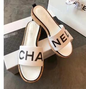 Novas mulheres da moda casual sandálias de couro sapatos de praia chinelos feminino peep toe chinelos C41427