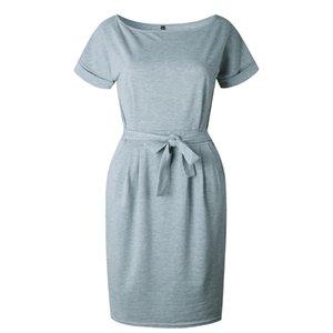 Женщины платье пояс Slim Fit Женская одежда юбка шею платье с коротким рукавом плиссированные юбки кружева 41