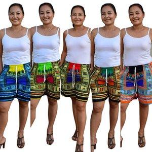 Afrika Elbise Yeni Satış Pamuk 2017 Sıcak Seksi Bohemya Totem Ulusal Kostüm Big Dijital Konumlandırma Baskılı Şort Plaj Pantolon