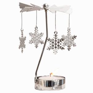 Rotation Spinning Lumignon carrousel de Noël Bougeoir Nouvel An cadeau de Noël faveurs de mariage étoiles Angel Heart Elk 16 Motif