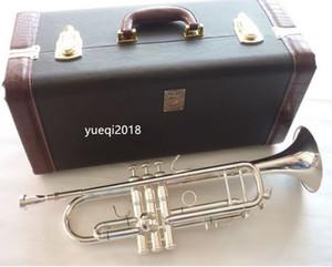 Nueva llegada Bach LT180S-72 Bb pequeña trompeta de plata Llave de Oro Profesional de Música Instrumentos con caja de envío