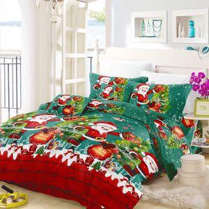 Qualitäts-Polyester-Baumwoll Weihnachtsgeschenk 3D Christmas Bettwäsche Bettbezug Pillowcase Einzel Queen Size