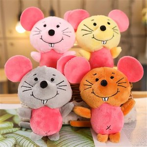 Felpa linda mouse pequeños juguetes del regalo de los niños colgante creativo de Kawaii ratones de juguete suave relleno Para Venta caliente de los cabritos 11 cm por HANDANWEIRAN