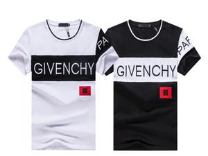 2020 nova marca de moda Designer T Shirt Hip Hop Branco Mens Roupa descontraída camisetas para homens com letras impressas TShirt Tamanho M-3XL