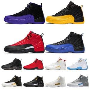 12 12s zapatos de baloncesto del Mens oscuro Concord juego real juego de la gripe inversa CNY Universidad de oro los hombres del deporte zapatillas de deporte Tamaño 7-13
