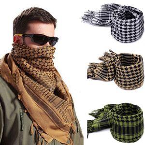 Fashion Men Scarves Lightweight Arab Tactical Desert Army Shemagh KeffIyeh Superb 2018 New Winter Plaid Warm Wraps