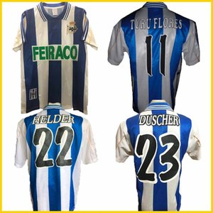 1999 2000 Deportivo de la Corogne Jersey de football rétro 99 00 Deportivo La Coruna Valeron Makaay Bebeto Bitinho Classic Vintage Shirt de football