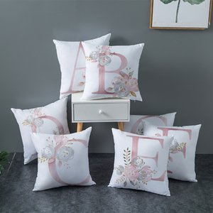 Pink letter cushion cover polyester cushion living room decoration pillow cover pillowcase 45X45cm