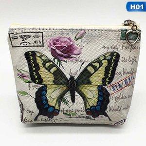 Nueva linda mariposa estudiantes monedero niños PU cuero Zip cambio monedero mujeres cartera Animal tarjeta clave bolsa niños