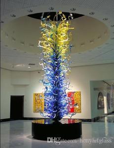 Большие Цвета Синий Murano Современные садовые Скульптуры Скульптуры из стекла ручной работы из дверей Скульптура Внутренний декор