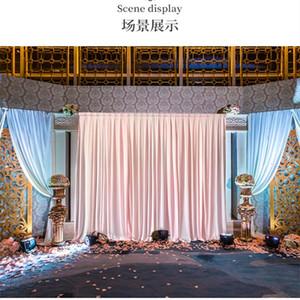 Ice Silk Chiffon Hochzeitshintergründe Panels Hanging Vorhänge Partei Kulisse Hochzeit Dekoration Drape Big Events Hintergrund Tuch T200115