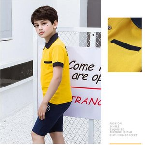 Fashion Kids Clothes Boys Short Sleeve Polo Shirts Children Summer Boys Lapel Print Short Sleeve T-Shirt