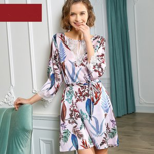Women's Sleep & Lounge summer 97% silk Nightgowns & Sleepshirts woman S5648
