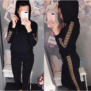 Frauen Sport-Klagen New Anzug Female Sweatshirt Sets Plus Size neue Art und Weise beiläufige bequeme Frühlings-Herbst-Hoodiesklagen