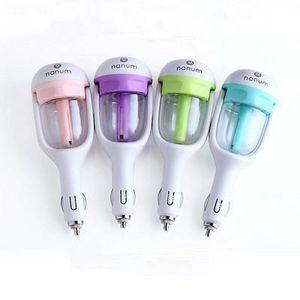 Car Plug-humidificateur d'air Purificateur véhiculaire huile essentielle humidificateur à ultrasons Aroma parfum voiture brume Diffuseur EEA378