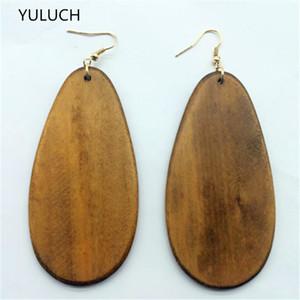 la moda más reciente africano pendientes hueco de madera de buena calidad joyas de gran personalidad ronda de nuevo diseño