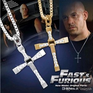 FAMSHIN free shipping Fast and Furious 6 7 hard gas actor Dominic Toretto   cross necklace pendant,gift for your boyfriend