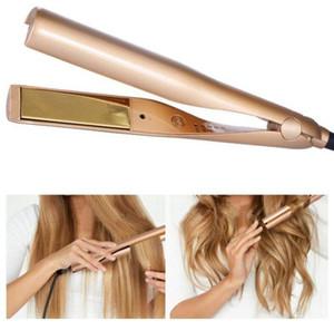 احدث 2 في 1 للشعر بكرة الشعر استقامة آلة التصميم المهنية التيتانيوم الشعر الكهربائية تنعيم الرول أدوات الطراز بكرة