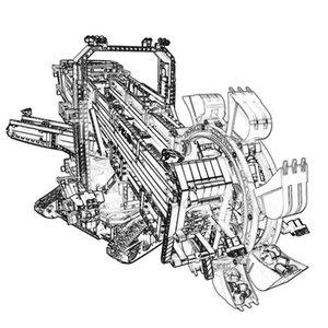 Secchio tecnologia escavatore gommato gruppo meccanico ingegneria del veicolo elettrico assemblaggio modello di costruzione blocchi