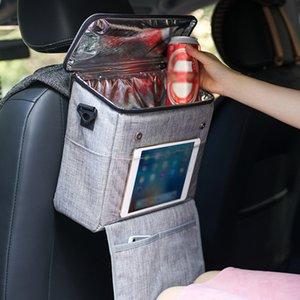 مقعد السفر عودة المنظم لسيارة برودة حقيبة الجليد حزمة العزل الحراري حقيبة الحقيبة الغداء مربع حزمة الثلج الثلاجة aldqa