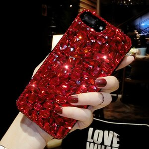 Handy-Fall Voller Diamantkristall Iphone 11Pro Max Handy Shell Handy-Fälle Anti-fall Bracket Water Resistant Hinterbauständer
