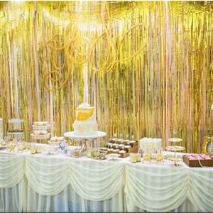 3M-Rainbow Paillette Hintergrund Foil Fringe Tinsel Curtain-Geburtstags-Party Regen für die Dekoration Mädchen Erwachsene Anniversary Sale