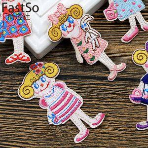 20191002 timbre mignon pour enfants avec la trompette de broderie mode dos colle