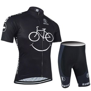 2019 BXIO New Comming Cycling Jerseys Yellow Smile Mountain Bike Clothes Short Sleeve Quick Dry Cycling Sets Breathable Bikes lulinxia