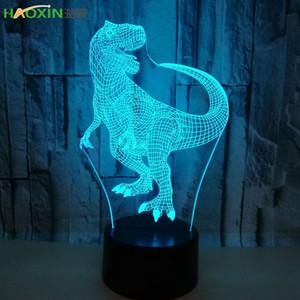 Haoxin 3D Hologram Illusion Eşsiz Lambası Akrilik Gece Işığı ile Dokunmatik Luminaria Lava Lambası 7colors Deco Gif Değişen Geçiş