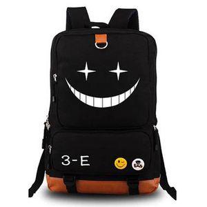Anime Assassinio aula Zaino Ansatsu Kyoushitsu zaino della scuola Korosensei Emoji spalla di corsa Borse per notebook