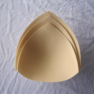 Traje de baño de relleno Insertos Femenina Ropa Accesorios espuma triángulo esponja protectores de pecho Copas del sujetador del pecho del bikini inserciones del cojín del pecho