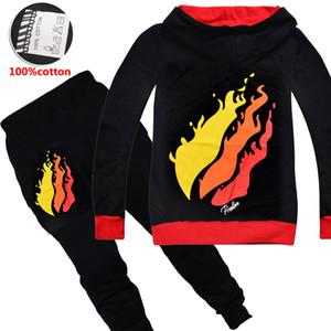 PRESTONPLAYZ vêtements ensembles 6-14t pantalons hoodies fermeture à glissière pour enfants garçons + jeux Piece 120-160cm enfants vêtements designer garçons GSS407