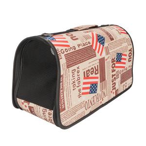 Handbag Carrier Comfort Pet Dog Travel Carry Bag Brown Flag Pattern L Travel Carrier Tote Bag Free Shipping