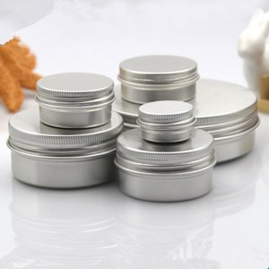 100 x 5ml 10ml 15ml 30ml 50ml 60ml Aluminum Metal Jars Cosmetic Refillable Container Cream Pot Bottle Makeup Cases Storage Box
